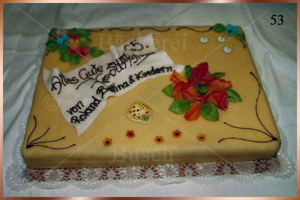 Geburtstagstorte Nr 53