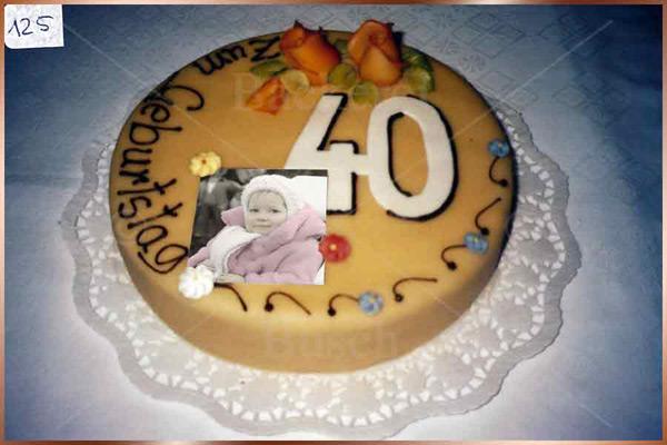 Geburtstagstorte Nr. 125
